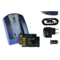 mtb more energy® - 2 Batteries + Chargeur USB, Bn-vf815 pour Jvc Gz-mg331, Mg332, Mg333, Mg335