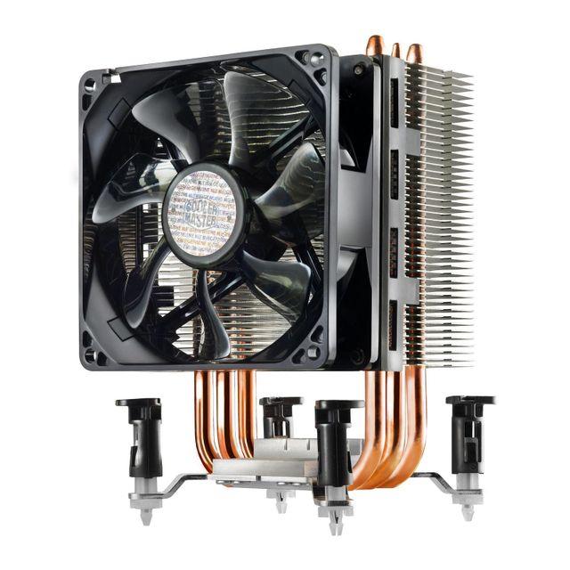 Cooler Master Ventirad pour processeur Coolermaster Hyper Tx3i Compatible avec les sockets Intel 1156 / 1155 / 1151 / 1150 / 7753 caloducs en cuivreVentilateur de 92 mm à hautes performancesVentilateur PwnAjout d'un deuxième ventilateur possible