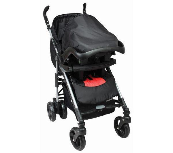 Poussette Pack Duo bébé - Groupe 0+ - Noir et Rouge