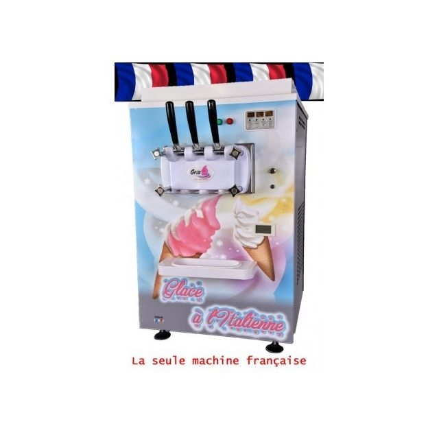 Gris Machine a glace italienne - 2 parfums et 1 mix
