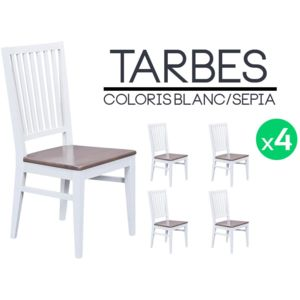 fabulous altobuy tarbes lot de chaises blanches et brun spia with chaises blanche pas cher. Black Bedroom Furniture Sets. Home Design Ideas