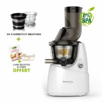 Kuvings - Pack promo B9400 Blanc + Kit à smoothies et sorbets - Extracteur De Jus Vertical