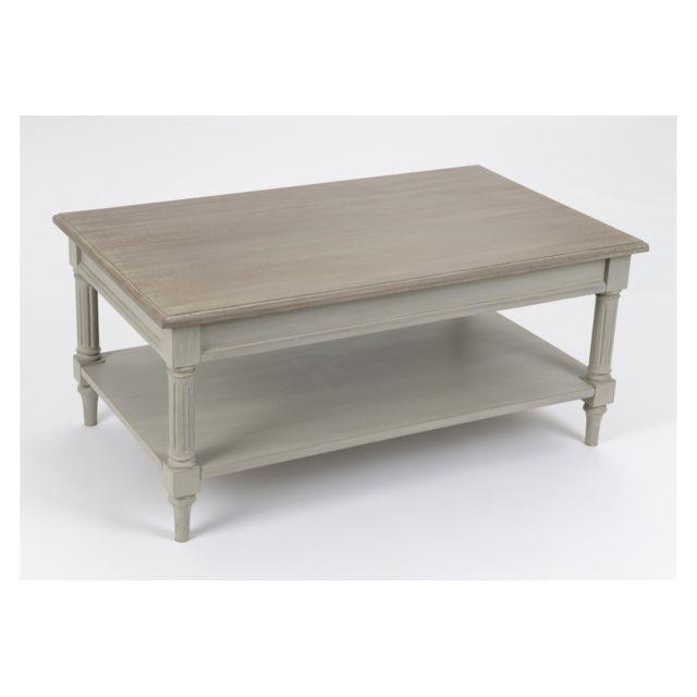 HELLIN Table basse en bois Edward