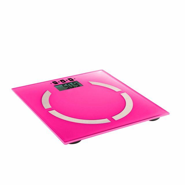 DOMOCLIP Pèse-personne électronique rose DOM254P