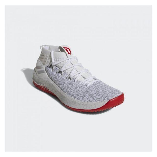 Adidas Chaussures de Basketball Dame 4 Blanc et rouge pour