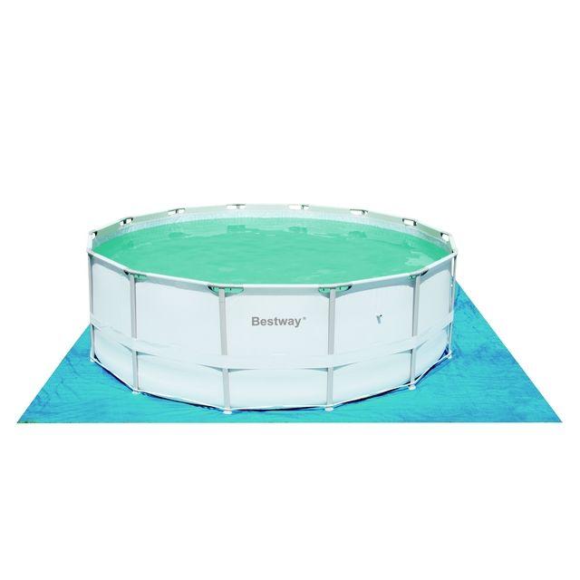 BESTWAY - Tapis de sol protection piscine Tapis de sol 4.88 4.88m Bleu 57134