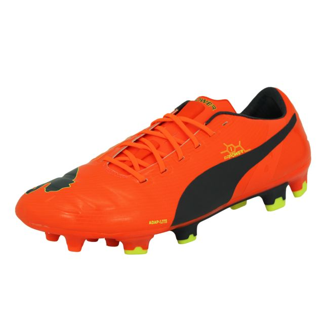 Puma Evopower 1 Fg Chaussures de Football Homme Rouge Noir
