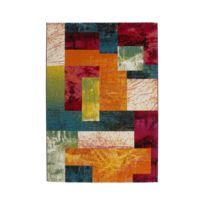 Allotapis - Tapis multicolore à courtes mèches design Gillo