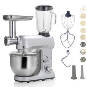 Robby robot multifonctions 5l 1000w silver avec hachoir et - Robot multifonction cuisine ...