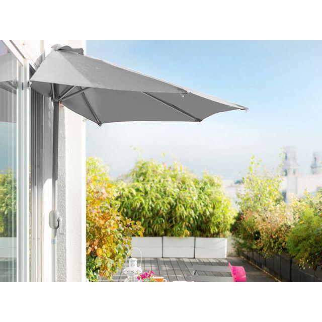 hesperide demi parasol de balcon serena gris pas cher achat vente parasols rueducommerce. Black Bedroom Furniture Sets. Home Design Ideas