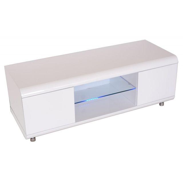 Declikdeco meuble tv laqu blanc pas cher achat vente meubles tv hi fi rueducommerce - Meuble tv hifi blanc laque ...