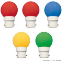 Leblanc Illumination - Blister 5 ampoules led B22 couleurs