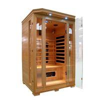 Design et Prix - Magnifique cabine sauna infra rouge 2 places luxe