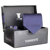 Torrente - Cravate Coffret Cofc49 Marine/rouge