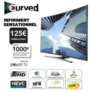 samsung ue55ju6500 138cm tv ultra hd 4k incurv pas cher achat vente tv led de 50 39 39 et. Black Bedroom Furniture Sets. Home Design Ideas