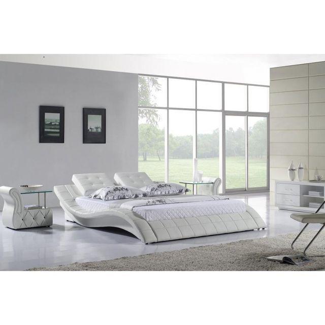 cosy tendance lit design zen 11 180 200 cm dessus chocolat sommier avec sommier t te. Black Bedroom Furniture Sets. Home Design Ideas