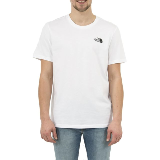 7ecf5d45e5083 The north face - Tee shirt 2tx5 simple dome blanc - pas cher Achat / Vente  Tee shirt homme - RueDuCommerce
