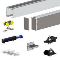Slid'UP By Mantion - Pack Premium Slid'UP 160 pour porte coulissante jusqu'à 1000 mm - Rail 2 m - 60 kg