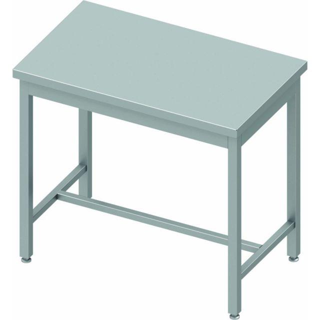 Materiel Chr Pro Table Inox Centrale Avec Renfort - Profondeur 800 - Stalgast - inox 800x800 800 à monter