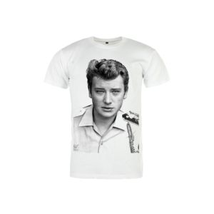 magic custom johnny hallyday t shirt blanc young johnny pas cher achat vente tee shirt. Black Bedroom Furniture Sets. Home Design Ideas