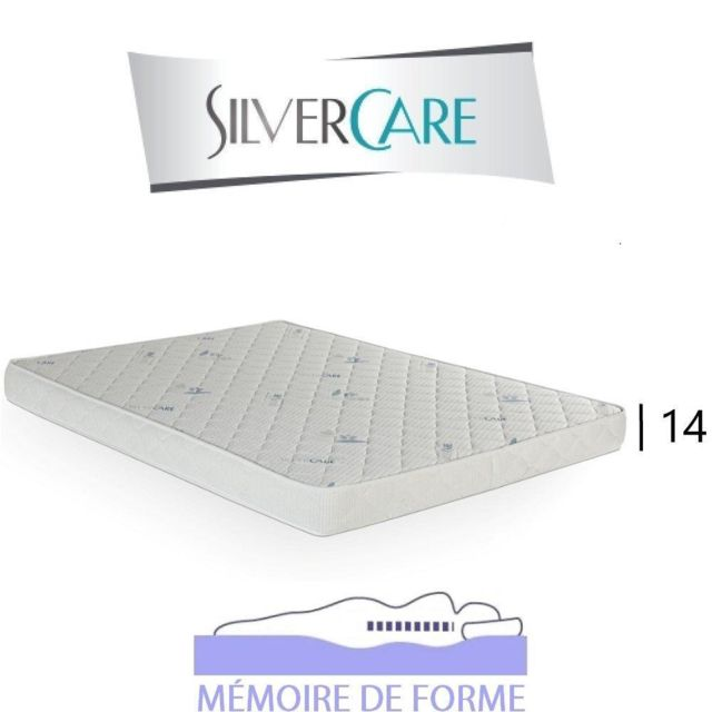 Inside 75 Matelas Sotto Silvercare épaisseur 14 cm dont 2 cm à mémoire de forme 50Kg/m3 pour canapé rapido 160 cm