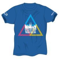 Deporvillage - Tee-shirt Barcelona Triathlon 2015 bleu