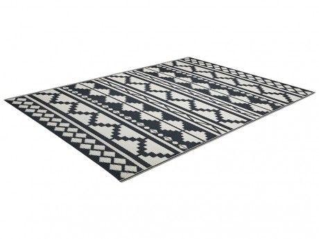 marque generique tapis d 39 ext rieur elbe polypropyl ne 120x180cm noir et blanc pas cher. Black Bedroom Furniture Sets. Home Design Ideas