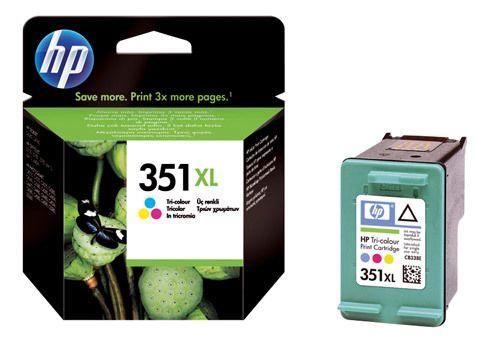 Hp - Cartouche imprimante jet d'encre 3 couleurs 350XL - Cb338EE