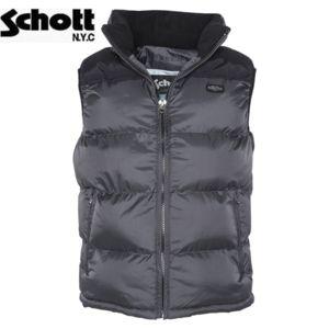 Schott Nyc - Doudoune sans manches Schott Anthracite Noir 2190V