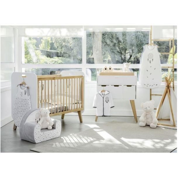 DVB BY MOMENTO - Lit bébé \'\'Norvège\'\' en bois blanc + Commode à ...