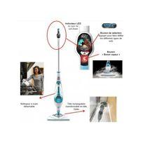 Black & Decker - Balai Vapeur Steam Mop 2 en 1 avec Tête Delta Fsmh1621D
