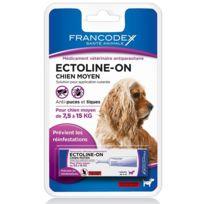 Francodex - Ectoline-on Chien Moyen de 7,5 kg à 15 kg, x 1 pipette 4 ml