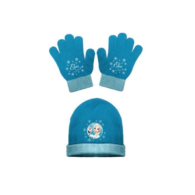 6fec43cae3ba Bonnet et gants - La reine des neiges - Bleu - pas cher Achat ...