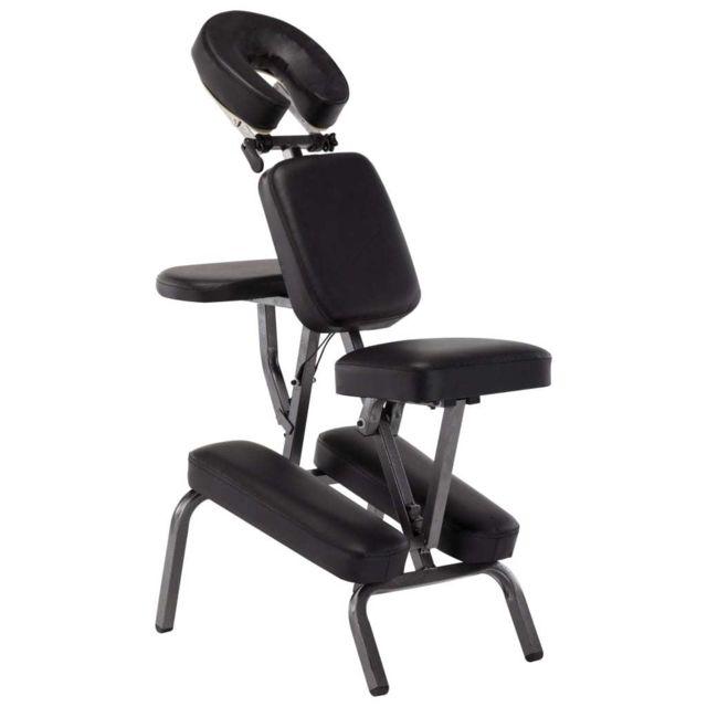 Superbe Massage & relaxation ligne Nuku?alofa Fauteuil de massage Similicuir Noir 122x81x48 cm