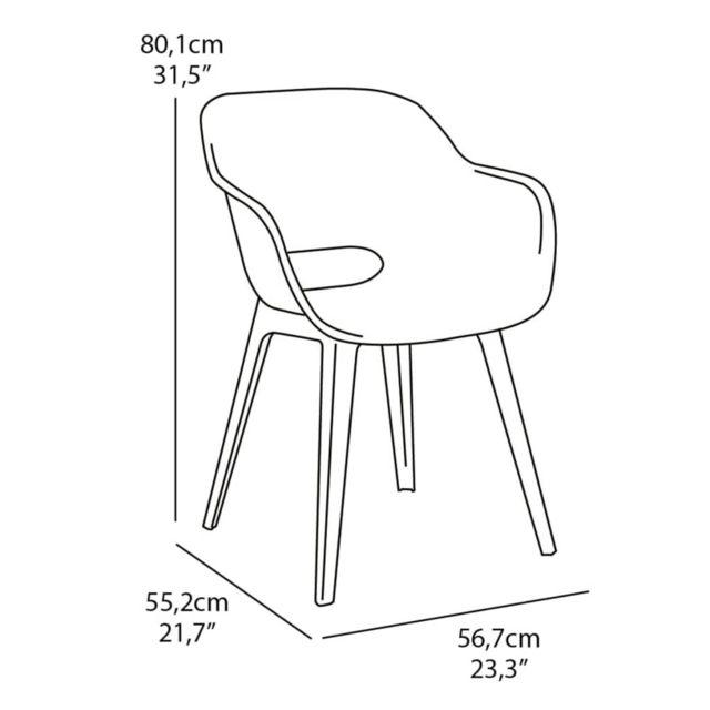 Chaise d'extérieur Akola Blanc 238358