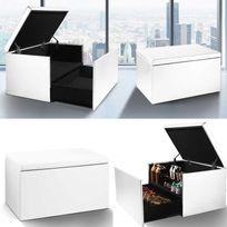 Idmarket - Coffre rangement banquette luxe blanc spécial chaussures