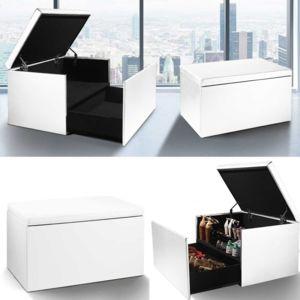 idmarket coffre rangement banquette luxe blanc sp cial chaussures pas cher achat vente. Black Bedroom Furniture Sets. Home Design Ideas