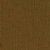 Bazzill Basics Paper - Papier texture toile Walnut 30,5 cm