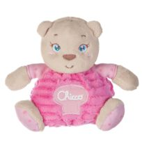 Chicco - Peluche petit ourson rose