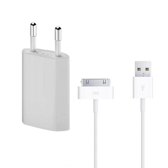 Lapinette - Chargeur Secteur + Cable Usb Pour Apple Iphone 4 - 4s