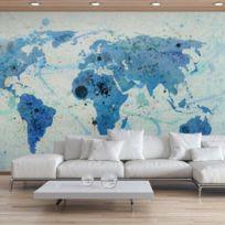 Bimago - Makossa-a1-F4TNT0129-P - Papier peint - Cruising and sailing - The World map 450x270