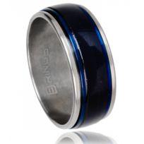 B-rings - Bague Anti-Stress Acier Bleu