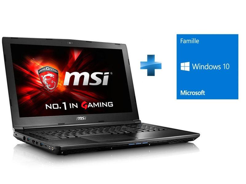 GL62 7RD-468XFR - Noir + Windows 10