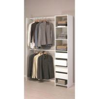 GÉNÉRIQUE   Dressing   Kit Amenagement De Placard Skirt Kit Dressing  Contemporain Blanc   L 141
