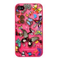 Christianlacroix - Coque Butterfly Parade de Christian Lacroix couleur Grenadine pour iPhone 4
