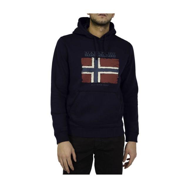 Napapijri Sweatshirt A Capuche Balys Blue Marine pas