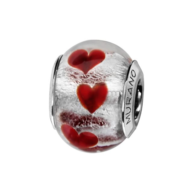 pandora charm coeur rouge