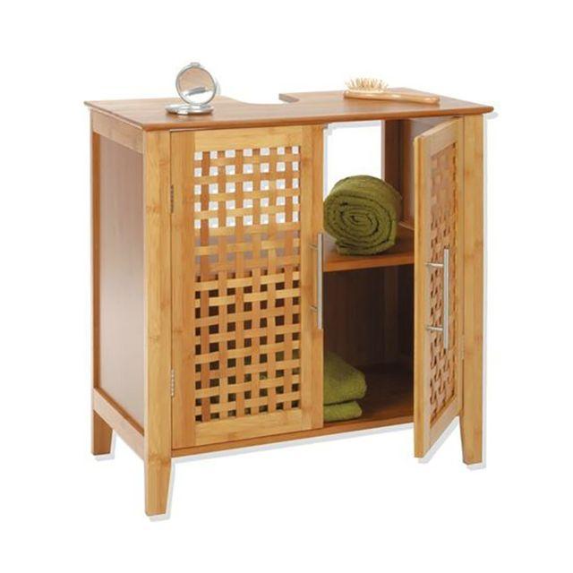 meuble salle de bain bambou - achat/vente meuble salle de bain