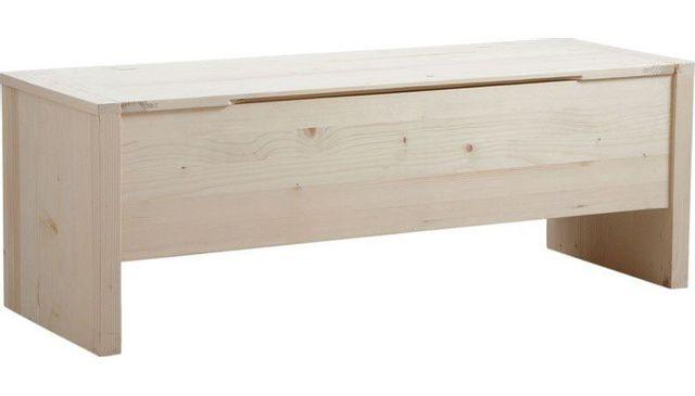 aubry gaspard coffre de rangement en bois brut finition brute pas cher achat vente. Black Bedroom Furniture Sets. Home Design Ideas