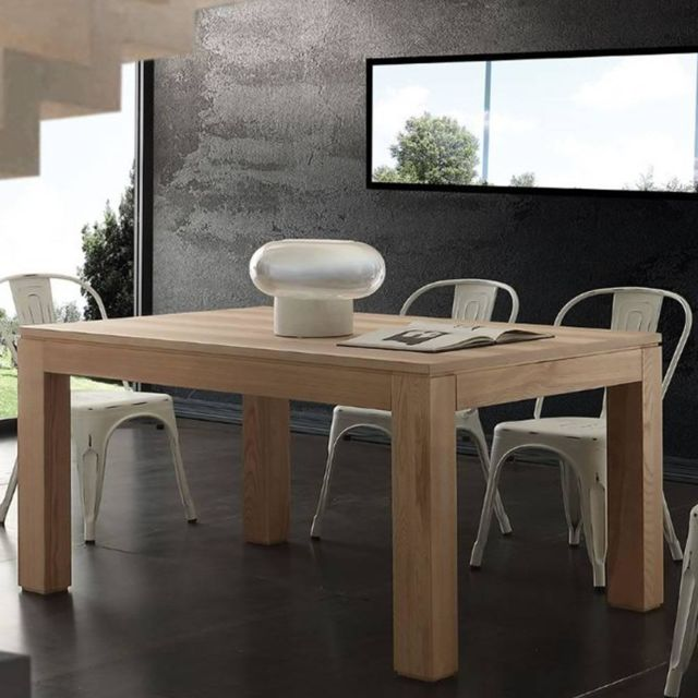 Inside 75 Table repas extensible Contemporaneo en bois massif naturel